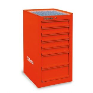 Beta C38L-R Side Cab With Seven Drawers (Red)